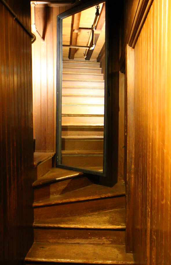 Das Haus verfügt über nicht weniger als 47 Treppenaufgänge, von denen einige im Nichts enden. (Foto Karsten-Thilo Raab)