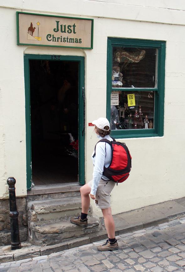 Unterwegs weichnachtet es auch schon mal sehr - was nichts mit dem Pub-besuch zu tun hat. (Foto Karsten-Thilo Raab)