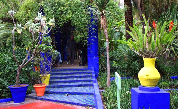 Gelbe und blaue Farbtöne bilden einen Kontrast zur üppigen Pflanzenpracht. - Foto Karsten-Thilo Raab