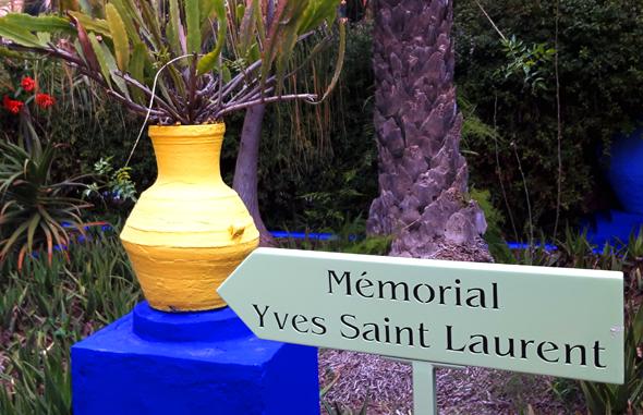 Die Gedenkstätte für Yves Saint Laurent ist in den Garten integriert. - Foto Karsten-Thilo Raab