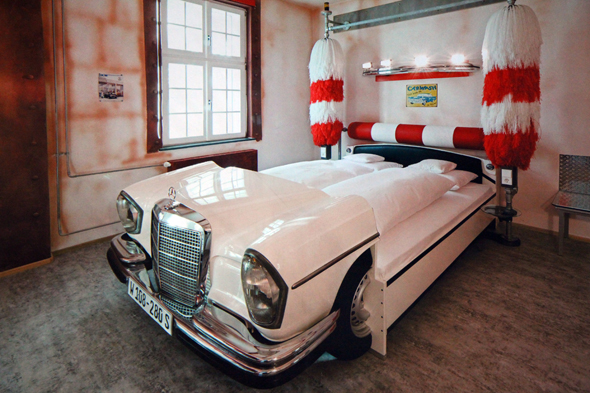 Die Waschanlage gehört zu den populärsten Themenzimmern. - Foto Karsten-Thilo Raab
