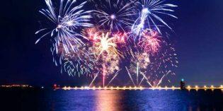 Happy New Year: Leuchtende Show am Liffey