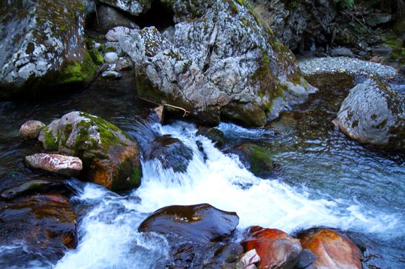 Über Jahrtausende wurde das Gestein von den Wassermassen geformt. - Foto Karsten-Thilo Raab