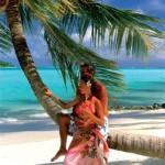 Jawort auf Polynesisch