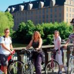 Rad fahren mit Rückenwind aus der Steckdose