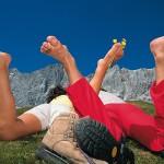 Schuhe aus für die Naturmassage am Dachstein