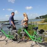 Alles im Fluß: Radeln auf dem Rheinradweg