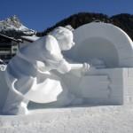 Schneeskulpturenwettbewerb lockt nach Gröden