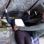 Sehr irisch: Küssend zur Muse der Beredsamkeit