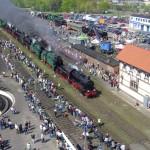 Das polnische Wolsztyn steht mächtig unter Dampf