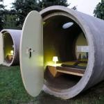 Parkhotel im Bernepark:Nachtlager im Abflussrohr