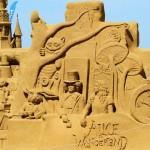 Frostige Zeitenbeim Sandskulpturenfestival