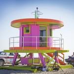 Neue bunte Strand-Häuschen für Miami Beach