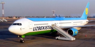 Lustiges Passagierwiegen bei Uzbekistan Airways