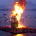 Weltgrößte Mittsommerfeuer lodert inÅlesund