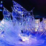 Winterzauber beim Eisskulpturenfestival in Hasselt