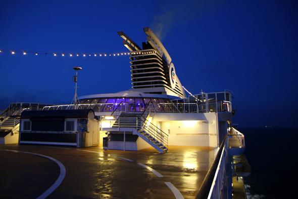 Stimmungsvoll ist die abendliche Fahrt mit der Colorline über die Ostsee von Kiel nach Oslo. (Foto Karsten-Thilo Raab)