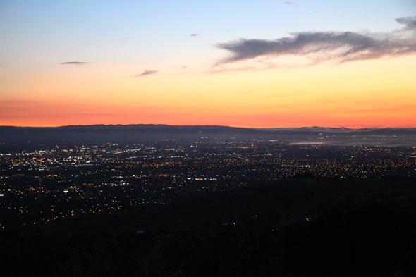 Üneraus reizvoll zeigen sich San José und das Silicon Valley nicht nur in der Abendsonne. (Foto Karsten-Thilo Raab)
