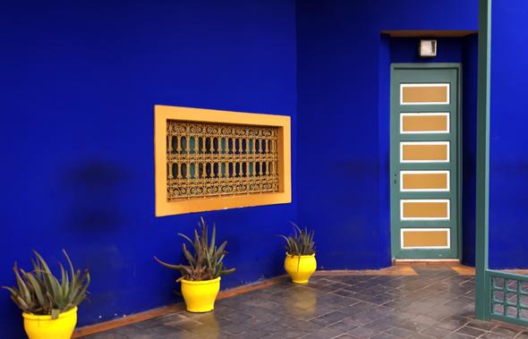 Der Jardin Majorelle in Marrakesch setzt auch farblich besondere Akzente. - Foto Karsten-Thilo Raab