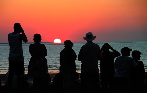 Der Mindil Beach in Darwin ist bekannt für seine grandiosen Sonnenuntergänge. - Foto Karsten-Thilo Raab