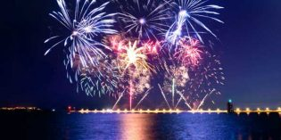 Happy New Year: Leuchtende Show am Liffey