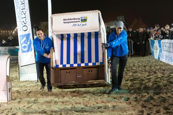 Höhepunkt des Winterstrandkorbfestes ist Weltmeisterschaft im Strandkorbsprint. - Foto Andreas Dumke