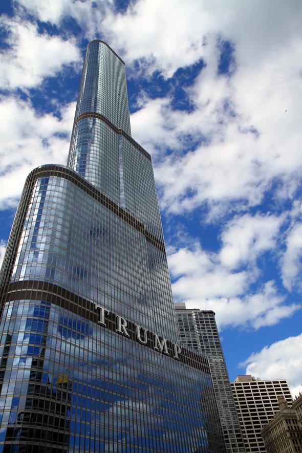 Hochhausgigant mit präsidentialem Touch: Der Trump Tower. - Foto Karsten-Thilo Raab