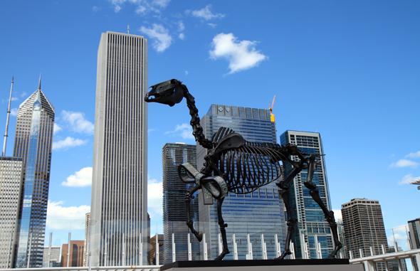 Vom Art Institue of Chicago bieten sich herrliche Blick auf die Skyline. - Foto Karsten-Thilo Raab