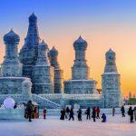 Weltgrößtes Schnee und Eisfestival steigt in Harbin